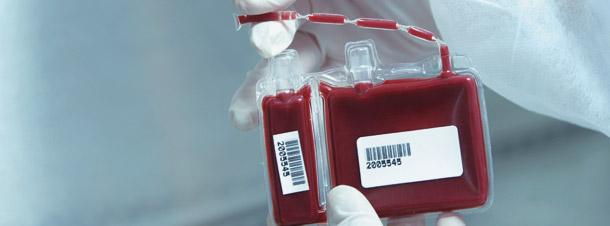 As células-tronco dos clientes da CordCell são armazenadas em bolsas bi-partidas