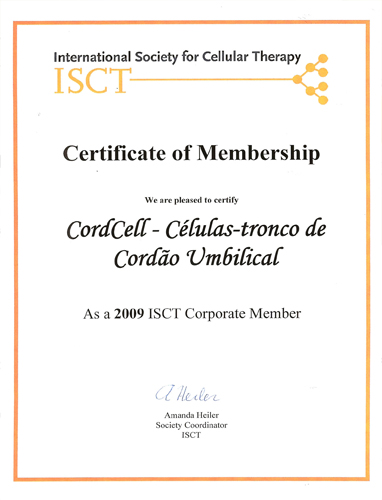 Certificado ISCT 2009