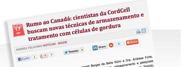 Cientistas da CordCell buscam novas técnicas de armazenamento e tratamento com células de gordura