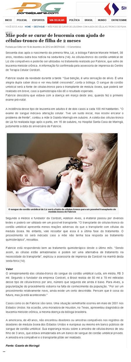 Mãe pode se curar de leucemia com ajuda de células-tronco de filha de 2 meses